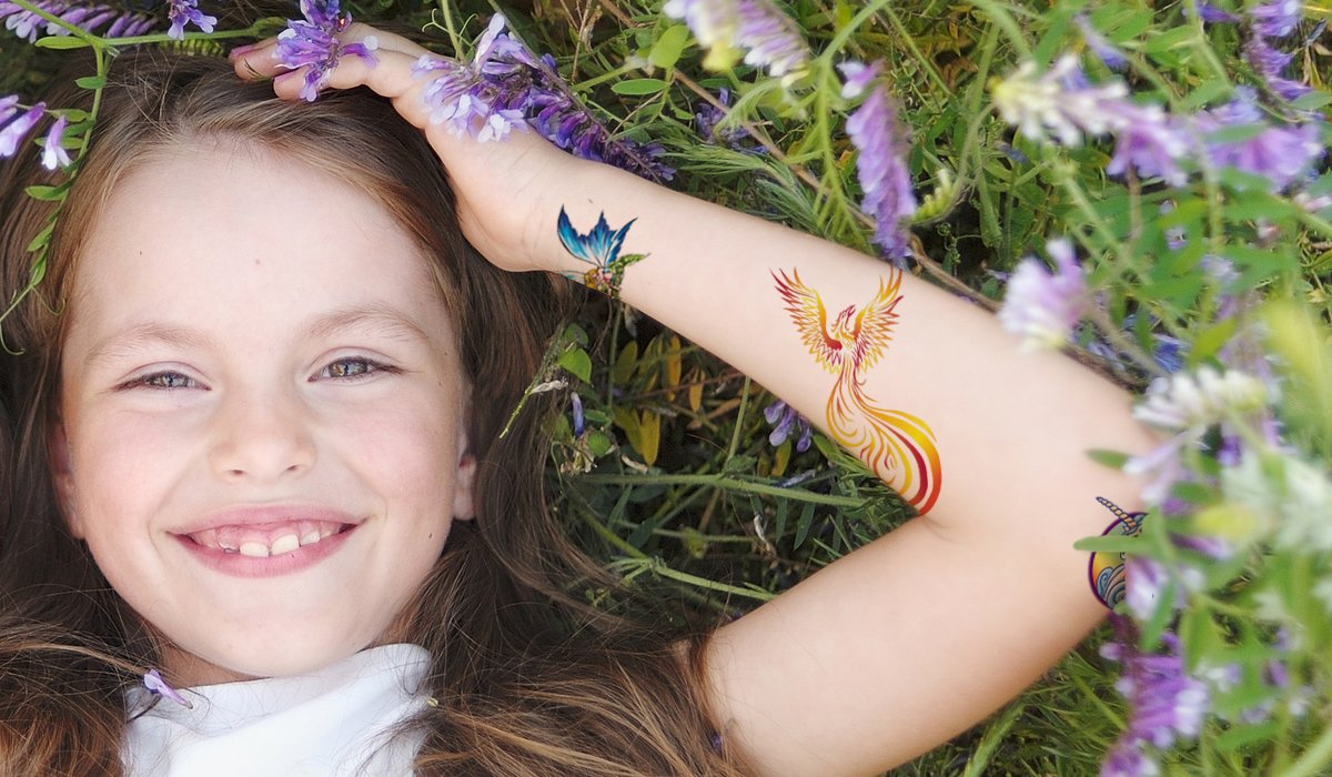 Juego de Tattoos Fantasía - 11x Tatuajes Temporales para Niños ...
