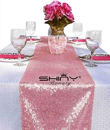 ShinyBeauty Black Sequin Table Runner-12 x 72-inch by ShinyBeauty