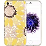 iPhone 7 Case [Floral Pattern] KIMICO Premium Quality 3D UV Print Soft [Flexible TPU] Super Clear Scratch-Proof Protective Case for 4.7 inches iPhone 7 (iris 7)