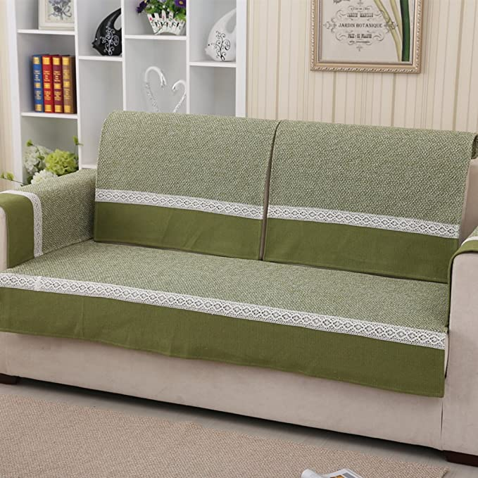 Amazon.com: YANGYAYA Solid Color Linen Sofa slipcovers,Sofa ...