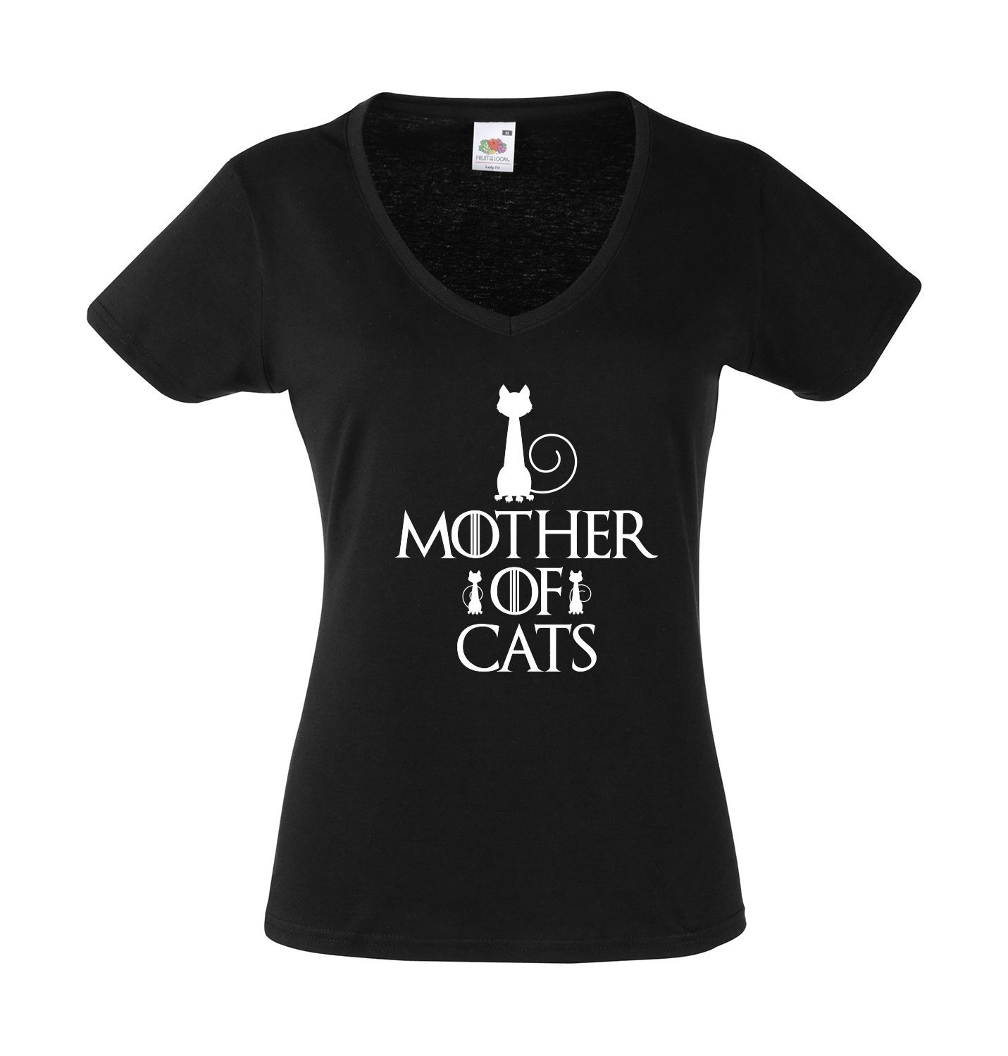 Tee shirt femme Mother of Cats, Game of Thrones, daenerys, dragons, GOT