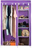 Harisons Homes Foldable Wardrobe with 5 Shelves (Purple)