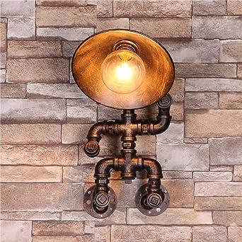 Wasser Rohr Wandleuchte Retro Water Pipe Lampe Edison E27 Design