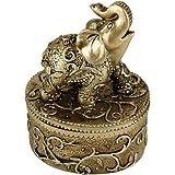 Evelots Elephant Jewelry Box Organizer, Keepsafe Trinket Box