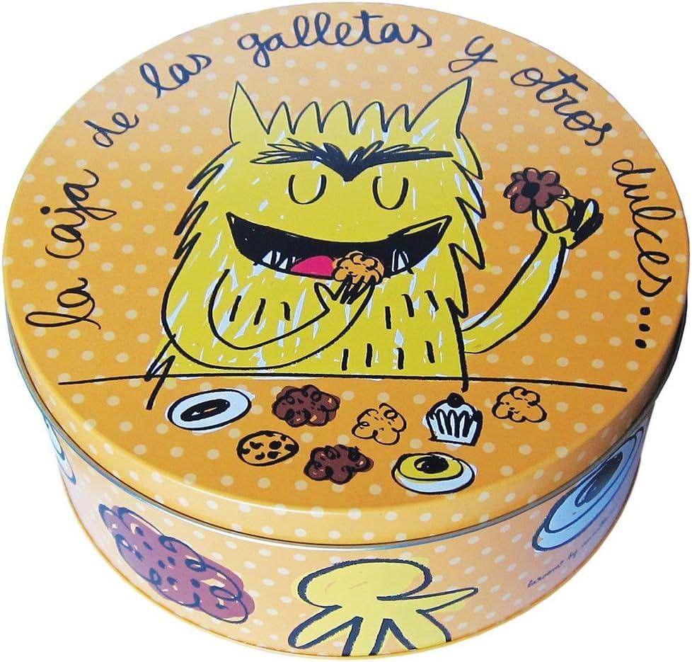 Laroom Caja met/álica Naranja Metal