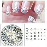 KTK Mixed Size Rhinestone Decoration Nail Art DIY 3D Glitter Diamante Crystal Gem