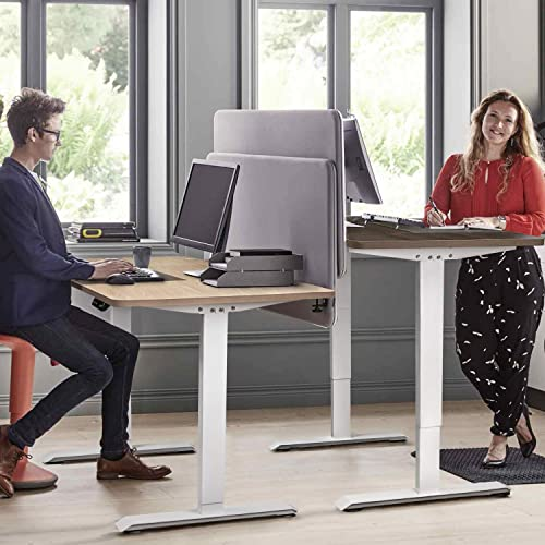 Furniwell Electric Height Adjustable Standing Desk 55 x 28 Inch Stand Up Desk Table Home Office Computer Desk