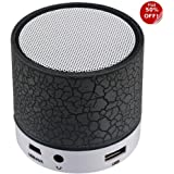 TODAY'S DEAL!DEAL OF THE DAY!AUDIO SALE/TODAY OFFERS!!Unique Crack disco Light series - Mini Bluetooth Speaker with USB Port / Memory card Slot - Loud Output compatible for OnePlus Lenovo Samsung Apple Iphone Xiaomi Motorola Asus Honor Intex Oppo Cool pad Gionee HTC Vivo Micromax data wind LeEco Lava LYF Spice Blackberry Infocus Android Mobiles/ Tablets, Laptop-EZ063(BLACK)