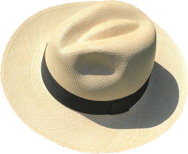 Genuine Montecristi Panama Hat Made in Ecuador (59 (Large), Beige)