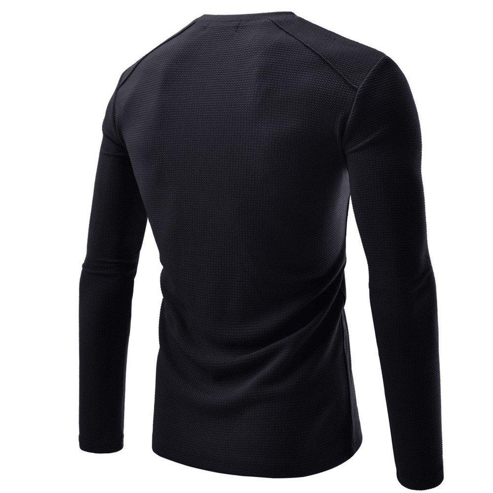 Breathable Undershirt Long Sleeve Sweatshirt Soild Activewear Shirt Gifts Mens Tops MISYAA Muscle Tank Tops for Men