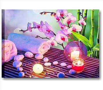 Zen fiori benessere 4 - Quadro moderno su tela intelaiato 70x50 cm ...