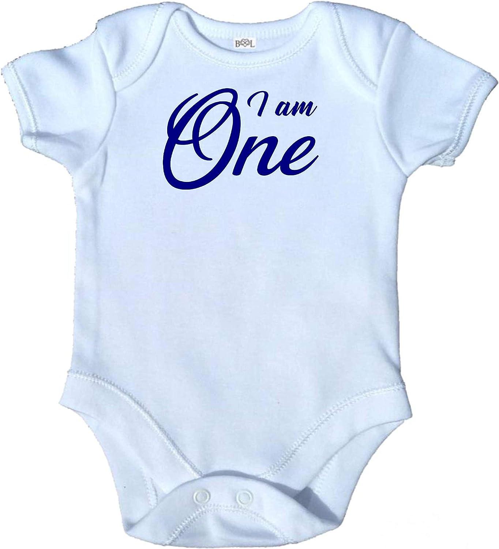 I am One Birthday Babygrow Bodysuit Vest 1st First Party Gift Present Short Sleeves Boy Girl BG014