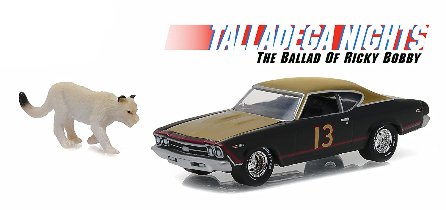 Chevrolet Chevelle with Cougar Figure Talladega Nights: The Ballad of Ricky Bobby (2006) 1/64 by Greenlight 44750 C