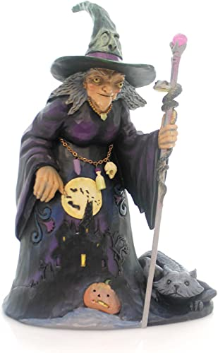 Heartwood Creek Jim Shore Be Very Afraid Witch with Haunted House Halloween Figurine 4053863 HWC
