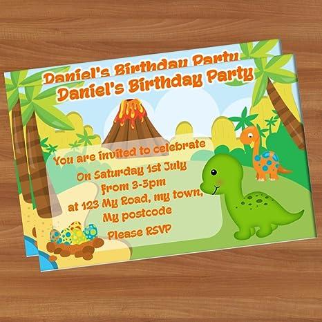 10 invitaciones Fiesta Cumpleaños A6 brillante pi22 ...