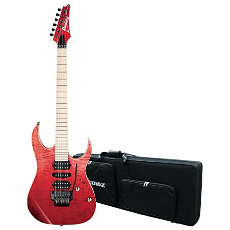 Ibanez atardecer rojo gradación rg6pcmltd SRG RG Premium para guitarra eléctrica w/caso