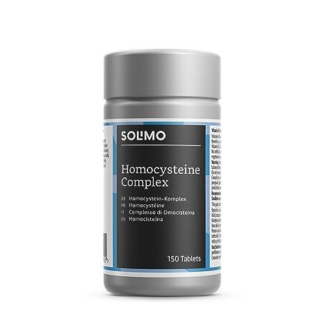 Marca Amazon - Solimo Homocisteína- Complemento alimenticio a base de vitaminas B, 150 comprimidos