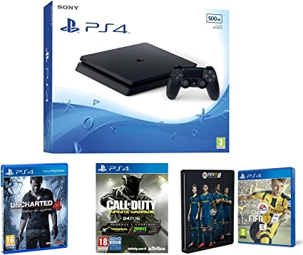 PlayStation 4 Slim (PS4) 500 GB - Consola + Call Of Duty: Infinite ...