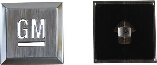 Chrome black C 2x OEM Fender or Door GM Mark of Excellence Emblem Badge Replacement for Silverado Colorado Suburban 1.25 15223485