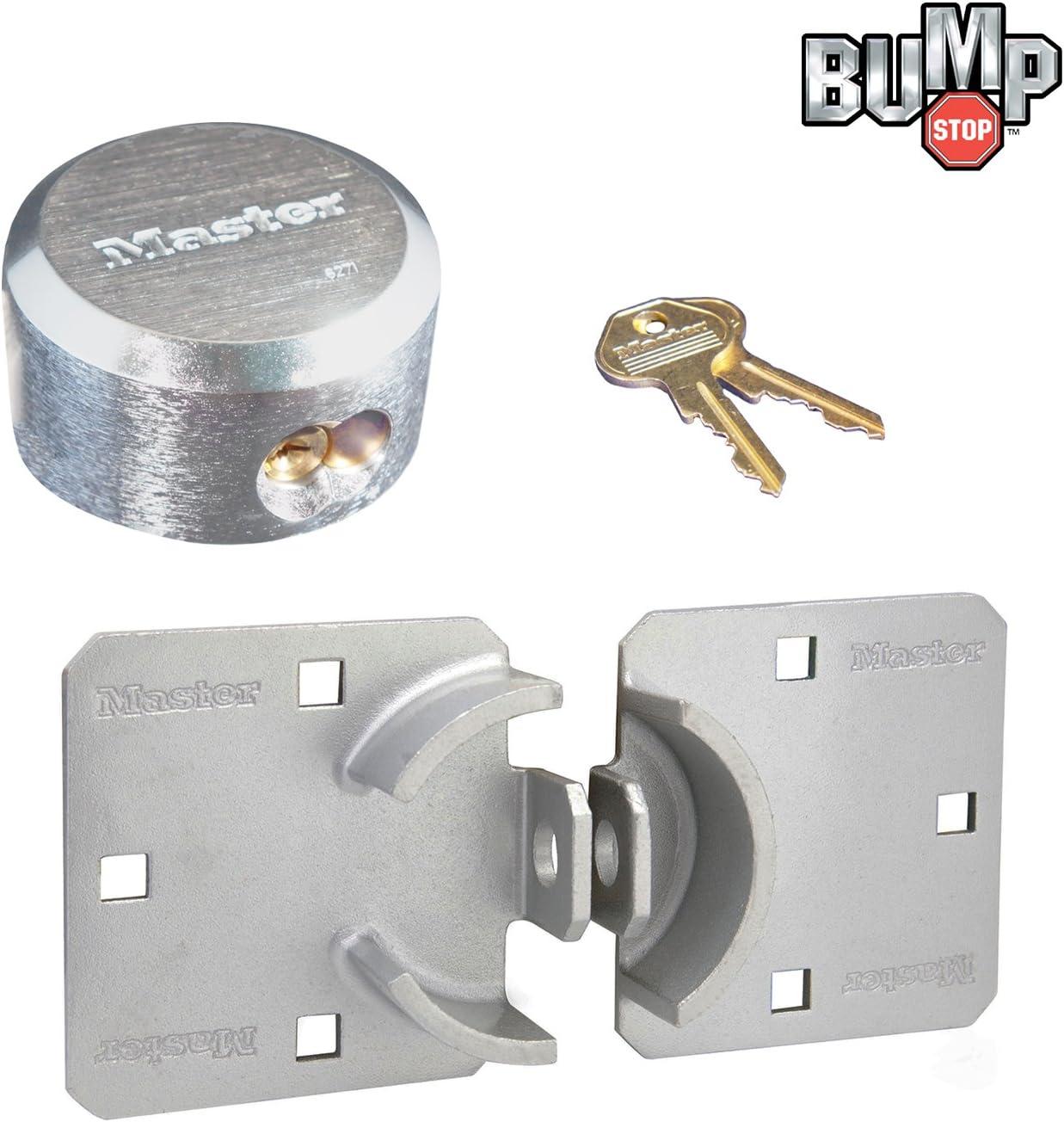 Padlock Keyed Alike - 1 Pack Master Lock – Cierre de/Cerradura grillete Oculta Combo 770 – 6271 N W/bumpstop tecnología: Amazon.es: Coche y moto