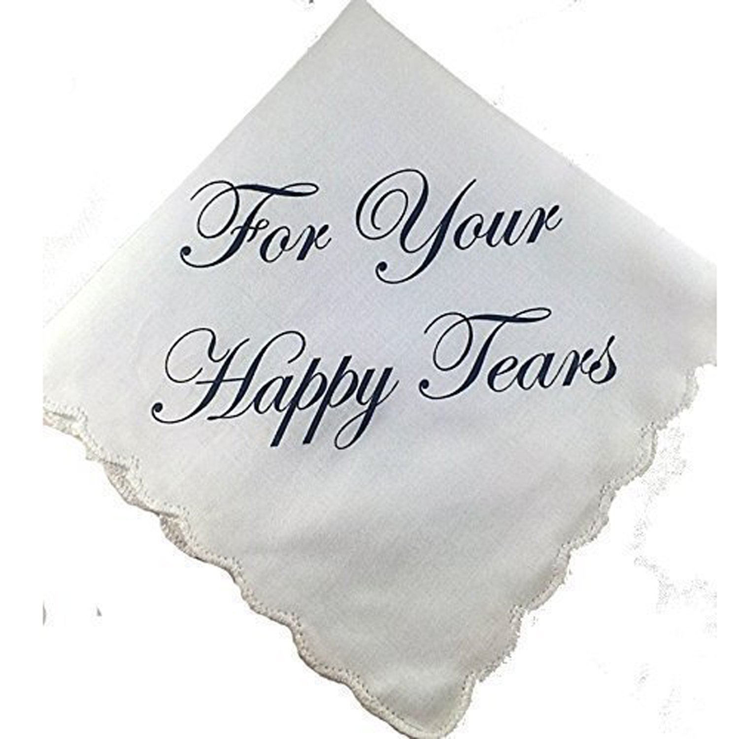Perfect Bridesmaid Gift For Your Happy Tears Wedding Handkerchief Set of 5 by Wedding Tokens