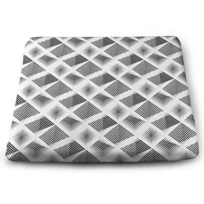 Tinmun Square Cushion, Monochrome Geometric Pattern Abstract Striped Large Pouf Floor Pillow Cushion for Home Decor Garden Party: Home & Kitchen