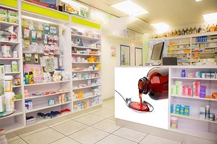 Vinilo decorativo pared 3D Farmacia | Jarabe | Varias Medidas 125x90cm | Adhesivo Resistente y de
