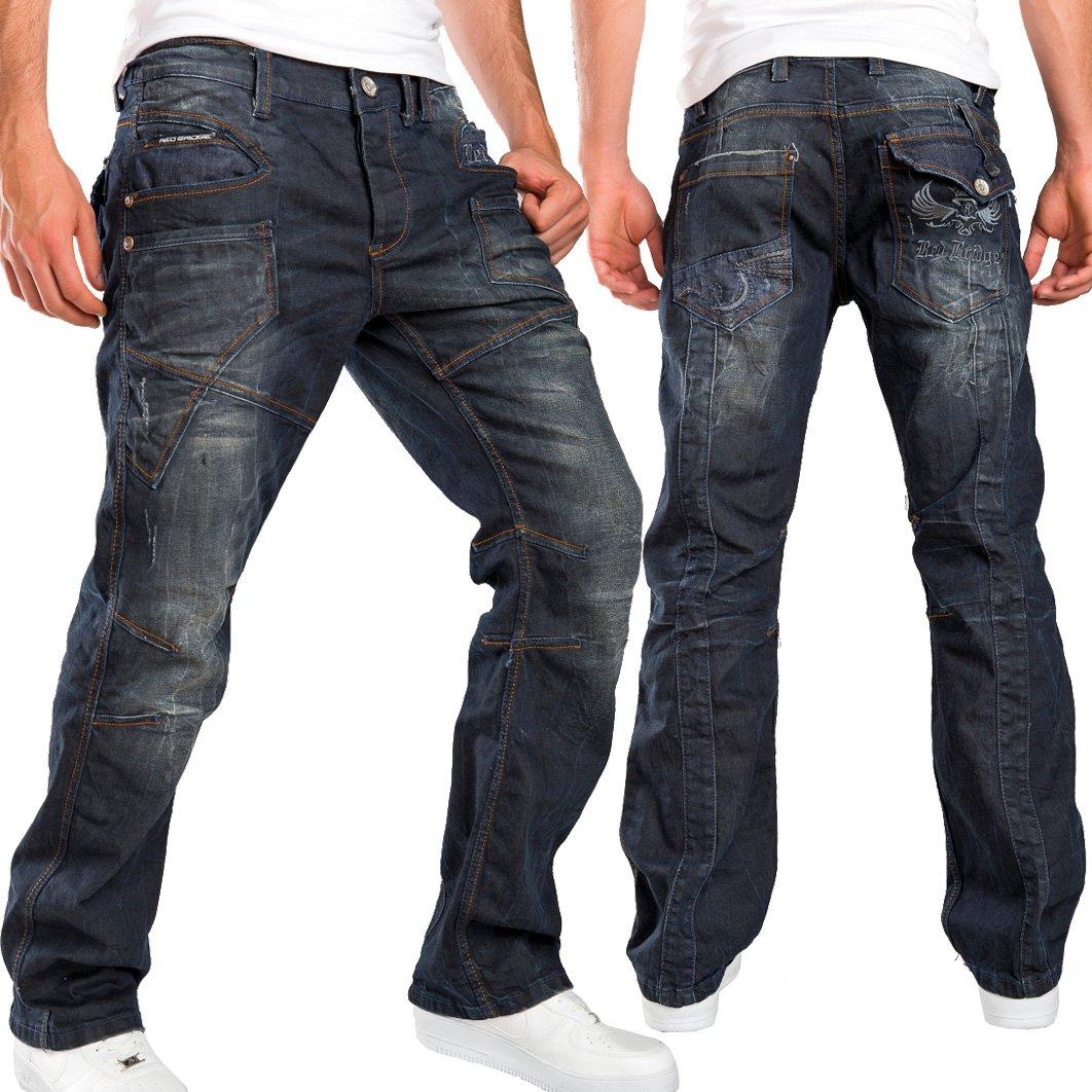 Destroyed Redbridge by Cipo /& Baxx Regular Fit Men // Men/'s Jeans Pants