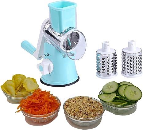 Details about  /Vegetable Fruit Rotary Cutter Slicer Shredder Cheese Kitchen Chopper Grater US