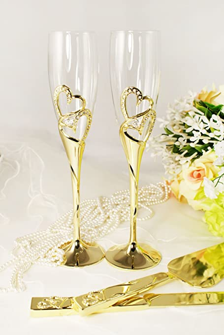 Engraved Wedding Flutes And Cake Server Sets. Cheap Champagne Flutes ...