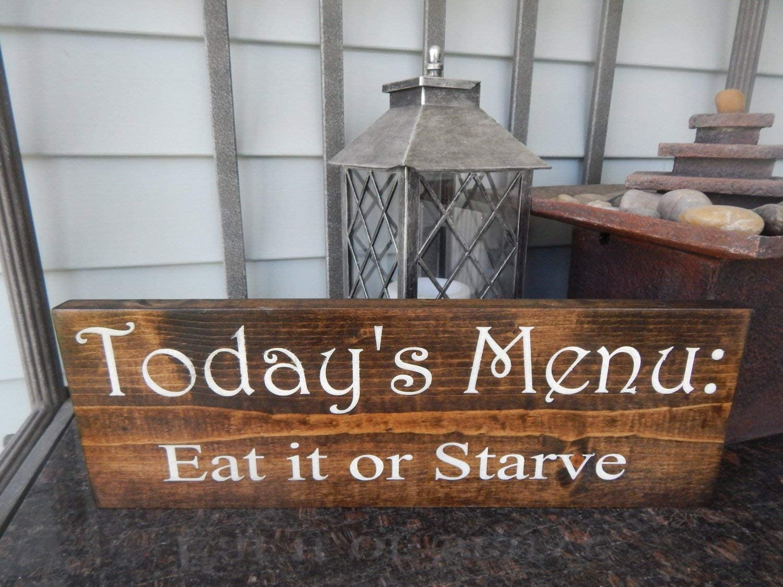 Decorative Wooden Kitchen Sign \u201cKitchen Hours CLOSED SUN-SAT.\u201d