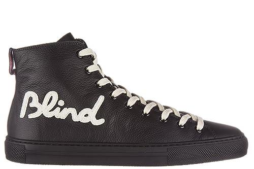 Gucci Scarpe Sneakers Alte Uomo in Pelle Nuove Hebron Nero  Amazon.it  Scarpe  e borse cb7d50e23d0e