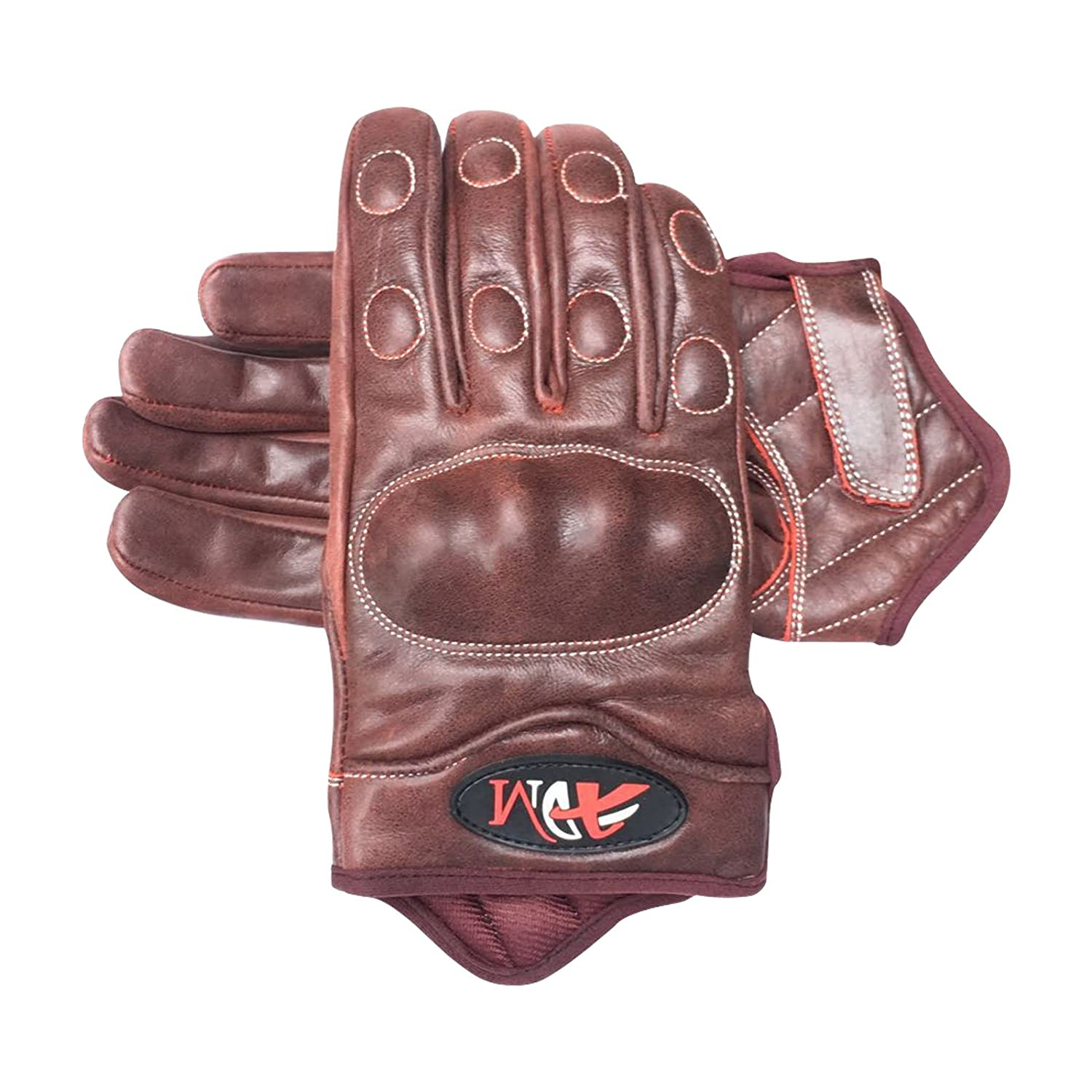 Prime Leather Full finger motorbike motorcycle summer//winter short style Italian Cow crunch leather 9004 by