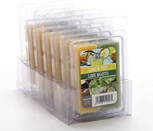 Hosley's Set of 6 Dual Pack Lemon Fizz/Lime Mojito Wax Cubes- 2.5oz. Hand Poured Wax Infused with Essential Oils. Ideal for Weddings, Spa, Reiki, Meditation Settings O9