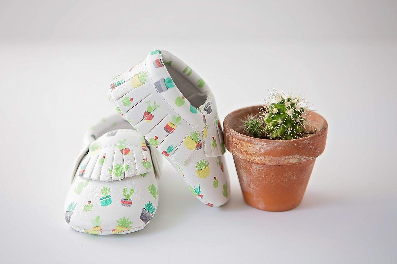 MoonBaby Organics Vegan Baby Moccasins Cactus Succulent