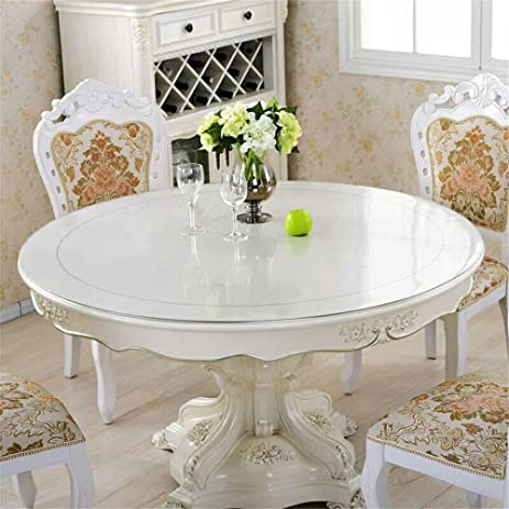 Amazoncom OstepDecor Custom Mm Thick Round PVC Protector For - 54 inch round table pad