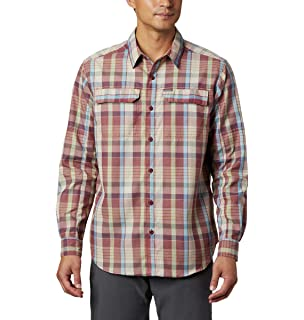 Wofupowga Mens Retro Button Down Cotton Plaid Slim Fit Shirt