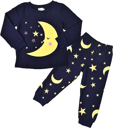Rebavl mangas largas estrella de la luna Niños pijama de algodón Niños ropa de noche de invierno Tamaño otoño 2017 98