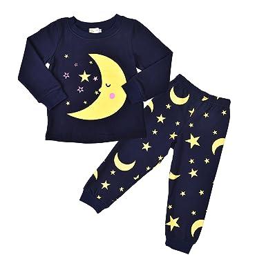 fda544cc993b Rebavl Universe Moon Star Boys Pyjama Sets Cotton Long Sleeves ...