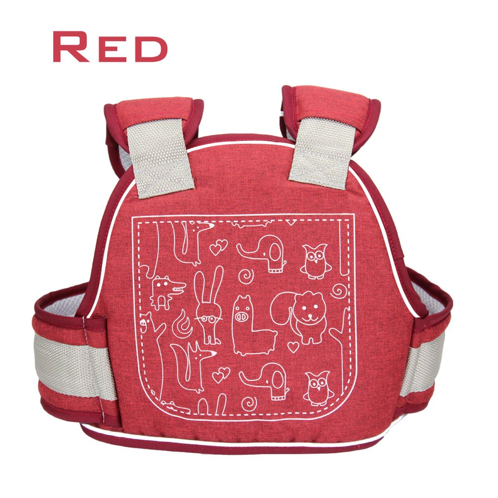 Children Motorcycle Seat Belts Kids Electric Vehicle Safety Travel Belt with Expandable Baby Safety Harness Strap for Motorbike Bike Snowmobile Electric Scooter Horseback Riding (Red)