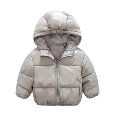 3b381d83bc90 Amazon.com  Kids Warm Winter Jackets Adorable Candy Color Baby Boys ...