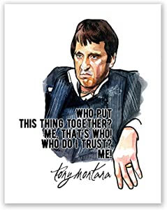 AtoZStudio Al Pacino Scarface Poster Quote // Tony Montana Home Wall Art Decor // Movie Print // Portrait // Gangster // Classic (8x10)