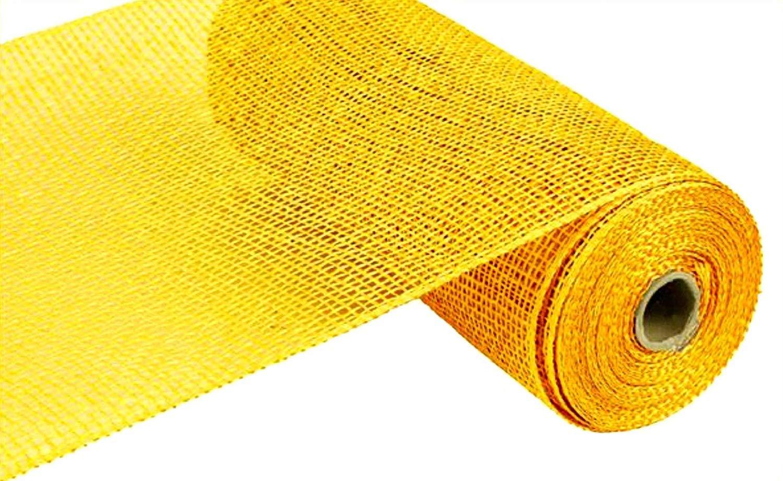 Poly Burlap Deco Mesh, 10'' x 10 Yards (Yellow) by Craig Bachman