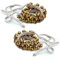 Prisha India Craft Kathak Ghungroo Pair, (50+50) (16 No. Ghungroo) Big Bells Tied with Cotton Cord Indian Classical…