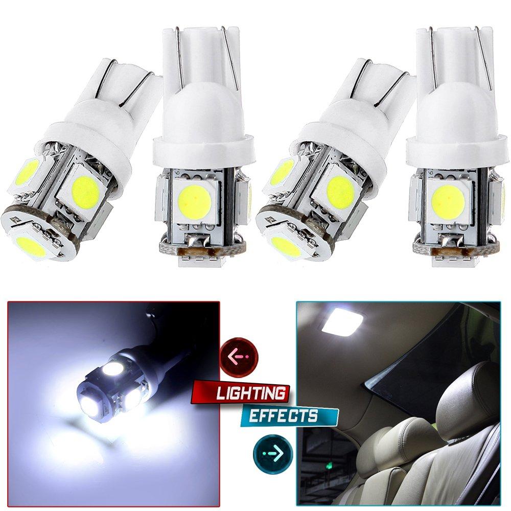 10X High Power 6000K White T10 921 Interior//License Plate SMD LED Light Bulbs