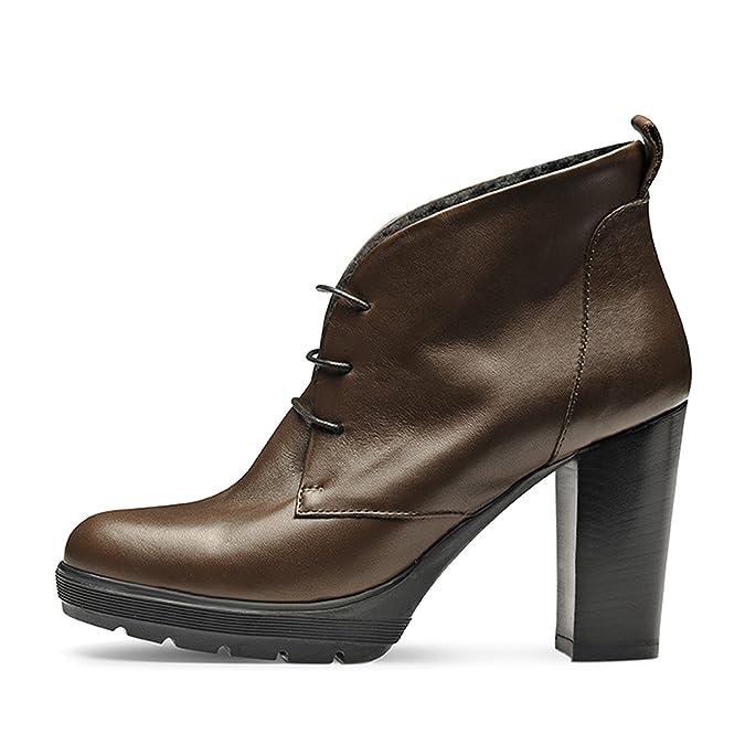 Evita Shoes TUANA Damen Stiefelette Rauleder Beige 41 ty9FN6rB