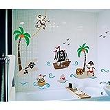 Zooarts Autocollants muraux pour chambre d'enfant sur le thème des pirates