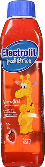 Electrolit Pediátrico Plast, Fresa, 500 ml