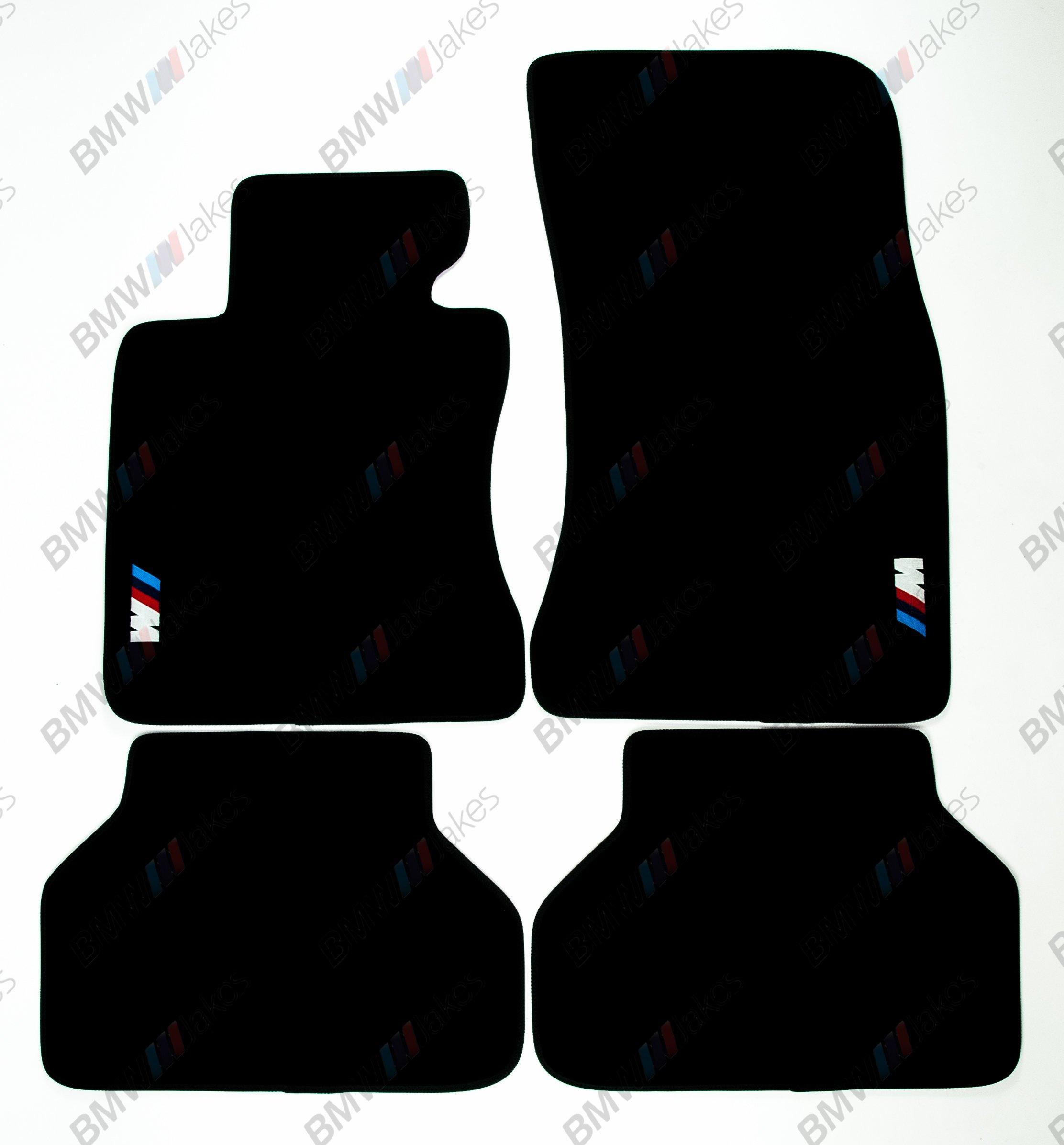 NEW CAR FLOOR MATS BLACK with ///M EMBLEM for BMW 5 series E60 2004 - 2009