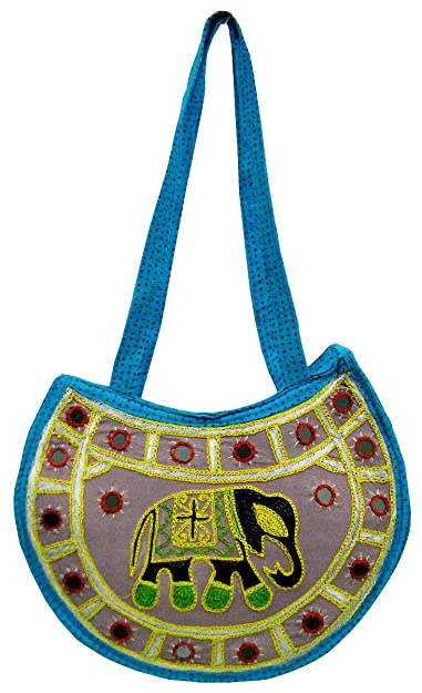 dcd98597aa64 Image Unavailable. Image not available for. Color  Elephant Design Hand  made Tribal Banjara Boho Indian Ethnic Shoulder Bag ...